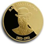 Bat Masterson Collectible Medallion - Gold Finish